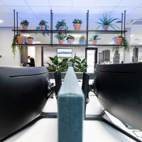 kunstplanten in terra cotta potten voor kantoor